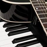 Frammento di una chitarra Fotografie Stock