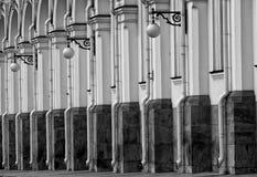 Frammento di una facciata di grande palazzo di Cremlino Immagini Stock