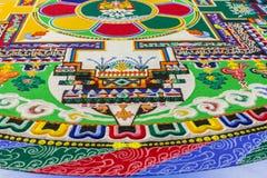 Frammento di una mandala buddista Immagini Stock