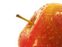 Frammento di una mela rossa. Fotografia Stock Libera da Diritti
