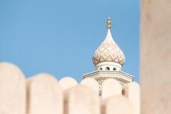 Frammento di una moschea dell'Oman Nizwa, Oman Fotografia Stock Libera da Diritti