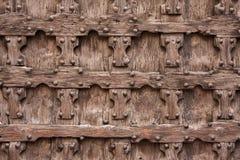 Frammento di una porta di legno Fotografie Stock Libere da Diritti
