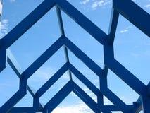 Frammento di una struttura moderna Immagini Stock