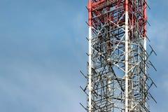 Frammento di una torre di telecomunicazione Fotografia Stock