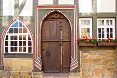 Frammento di vecchia casa del fahverk. Fotografia Stock