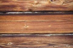 Frammento di vecchia casa di legno Immagini Stock