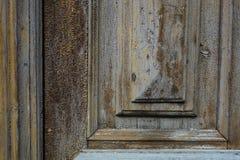 Frammento di vecchia porta Immagine Stock
