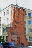Frammento distrutto della casa Monumento famoso a Volgograd, Russia fotografia stock