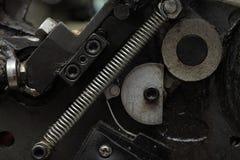 Frammento obsoleto del meccanismo della primavera Fotografie Stock