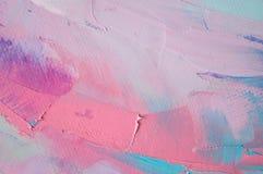 frammento Pittura multicolore di struttura Priorità bassa di arte astratta Olio su tela di canapa Pennellate approssimative di pi illustrazione di stock