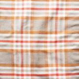 Frammento quadrato del materiale della camicia a strisce Fotografia Stock Libera da Diritti