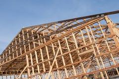 Framming нового амбара под конструкцией Стоковые Фото