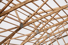 Framming of a new barn under construction Royalty Free Stock Photography