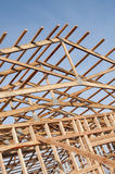 Framming of new barn under construction Royalty Free Stock Photography