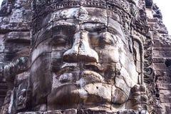 Framsida av den Bayon templet Fotografering för Bildbyråer