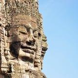 Framsida av den Bayon templet Royaltyfri Foto