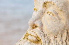 Framsida av den mythological guden Neptune arkivfoton