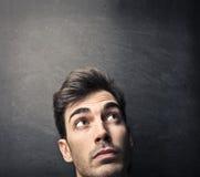 Framsida av en man Arkivfoto