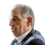 Framsida av en man i dräkt i profil fotografering för bildbyråer