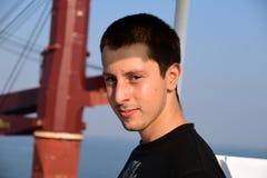 Framsida av en ung sjöman royaltyfri fotografi