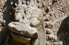 Framsida av ett en khmermonster Royaltyfri Foto