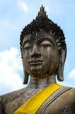 Framsida av gamla buddha Royaltyfria Bilder