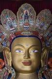 Framsida av maitreyaen buddha i thikseykloster Royaltyfri Fotografi