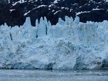 Framsida av Margerie Glacier på nationalparken för glaciärfjärd Royaltyfri Foto