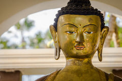 Framsida för Buddhastatybuddha bild royaltyfria bilder
