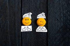 Framsida för två leende Arkivbild