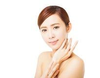 Framsida för ung kvinna för Closeup härlig Royaltyfri Fotografi