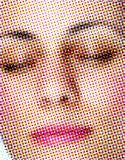 framsida rasterized kvinna Royaltyfria Bilder