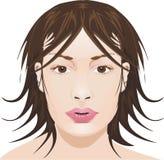 framsidaflicka vektor illustrationer