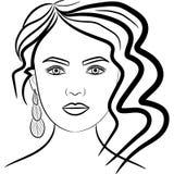 Framsidaform, grafiska illustrationmakeupkurser stock illustrationer