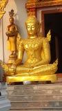 Framsidaguld buddha Royaltyfria Bilder
