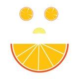 Framsidaillustration med apelsinen Arkivbilder