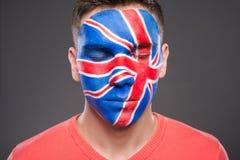 Framsidakonst Bodypaint Flaggor Royaltyfri Fotografi