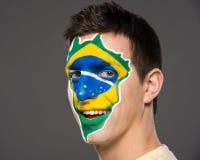 Framsidakonst Bodypaint Flaggor Fotografering för Bildbyråer