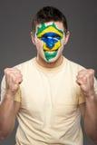 Framsidakonst Bodypaint Flaggor Royaltyfri Foto
