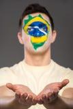 Framsidakonst Bodypaint Flaggor Royaltyfria Bilder
