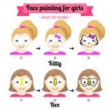 Framsidamålning för flickor 1 stock illustrationer