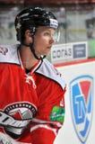 Framsidanärbildhockeyspelare Royaltyfria Foton