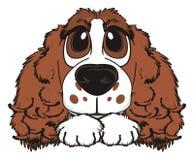 Framsidan av hunden med tafsar royaltyfri illustrationer