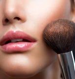 framsidan gör upp makeup royaltyfri fotografi
