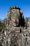 Framsidan i den Bayon templet - Cambodja Royaltyfri Foto