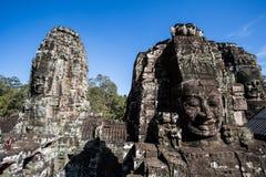 Framsidan i den Bayon templet - Cambodja Royaltyfria Bilder