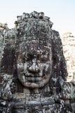 Framsidan i den Bayon templet - Cambodja Royaltyfria Foton
