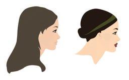 framsidan profiles kvinnor Arkivbild