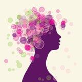 framsidasilhouettekvinna royaltyfri illustrationer