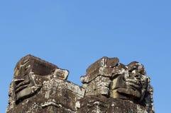 Framsidor av Angkor Royaltyfri Fotografi